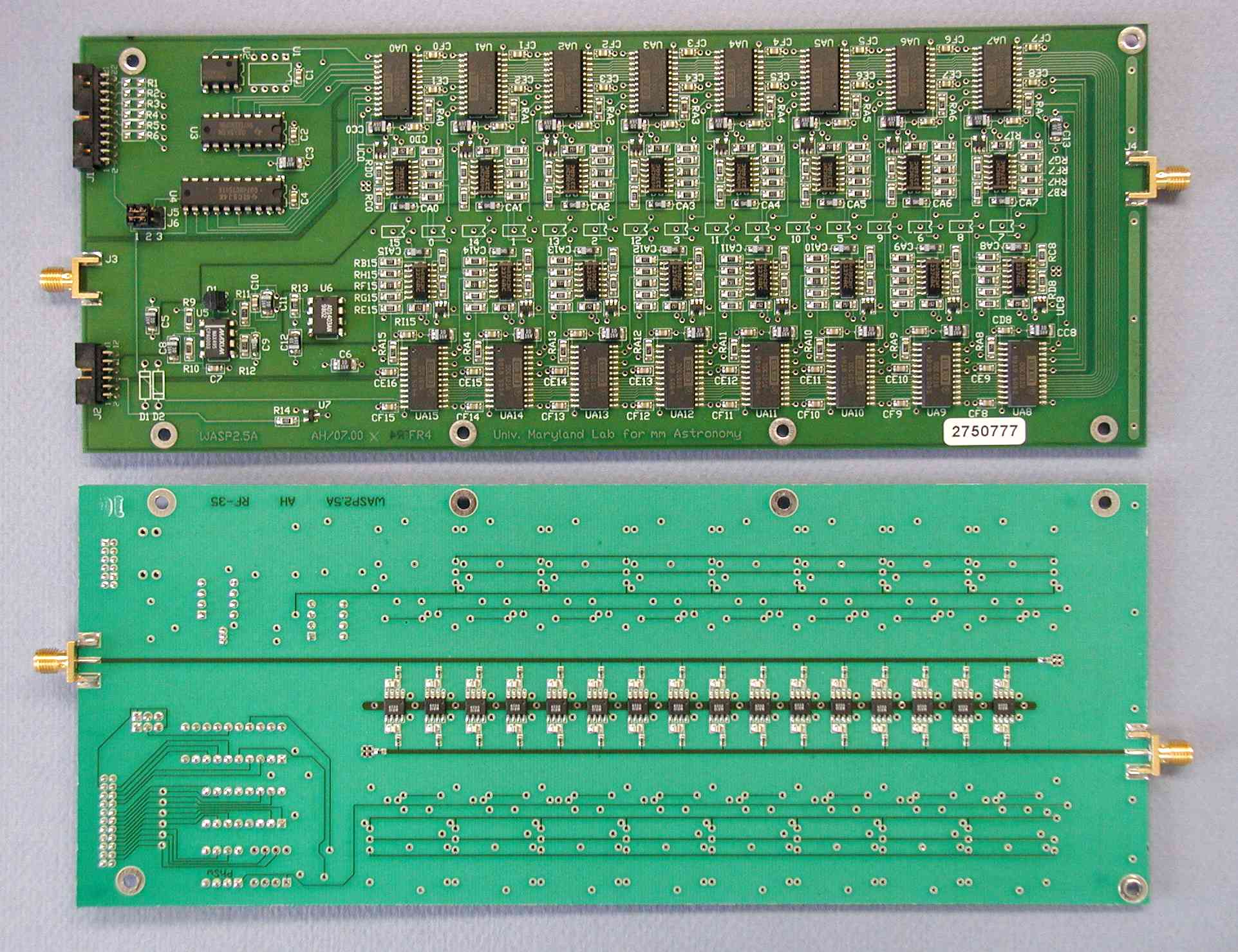 The Wasp2 Circuit Boards Are Four Layer Hybrids Of Microwave And Normal Fr 4 Board Material Most Parts Surface Mount Technology